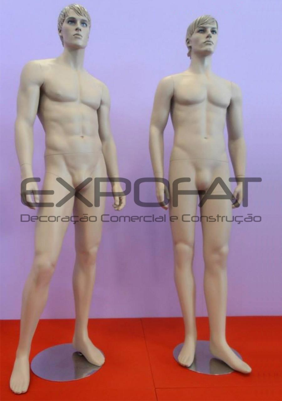 Manequins masculinos cabelo esculpido