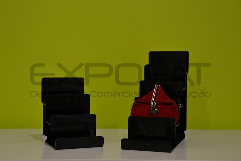 Expositores acrílicos para carteiras